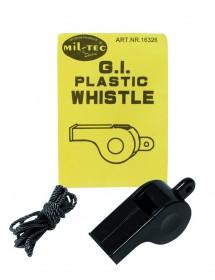 Fluier US Plastic Negru