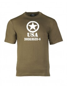Tricou Allied Star Oliv